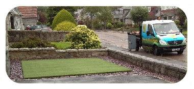 Donside landscapes hard landscaping for Zero maintenance garden